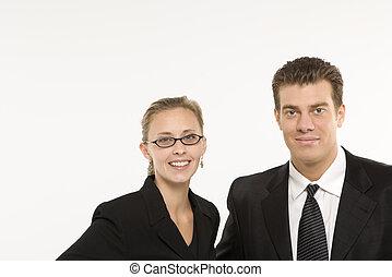 Businesspeople portrait. - Portrait of Caucasian mid-adult...