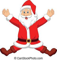Happy santa cartoon - Vector illustration of Happy santa...