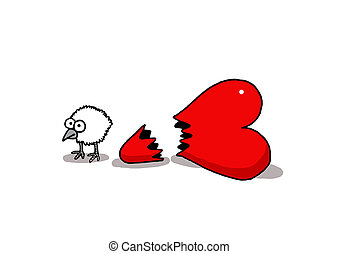 Love chick - Vectorel conceptual humorous cartoon about...