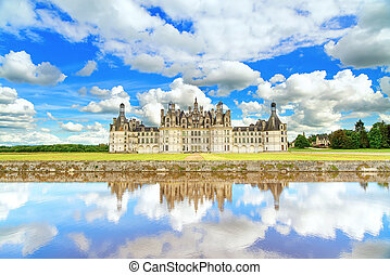 Chateau de Chambord, royal medieval french castle and...