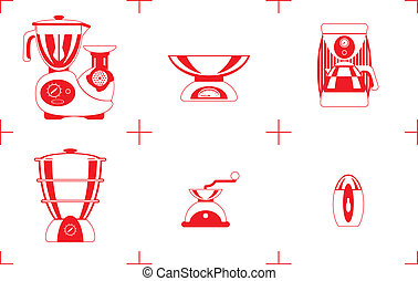 household goods - A Vector illustration of the household...