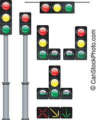 traffic lights - vector eps-8. illustration of the light...