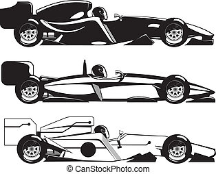 formula 1 - vector illustration of formula 1. three sports...