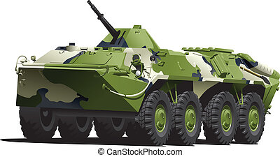 armored troop-carrier - Vector eps 8 illustration of armored...