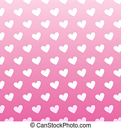 Seamless vintage white heart pattern on pink background...