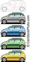 small utilitie car - illustration of utilitie car Simple...