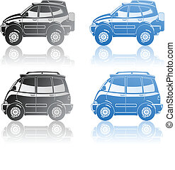 all-road vehicle and minivan - A Vector illustration of...