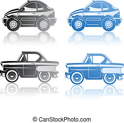 illustration of car. - A Vector illustration of modern coupe...
