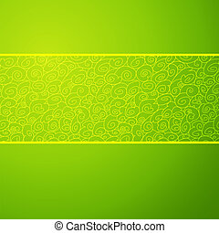 Green wave horizontal ornamental background. Vector illustration for your spring fashion design. Easy to edit and change color. Symbolizes growth, a stream and development.
