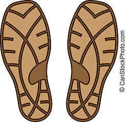 vector brown rubber shoe sole