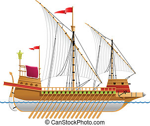 galley - vector illustration of a galley. Simple gradients...