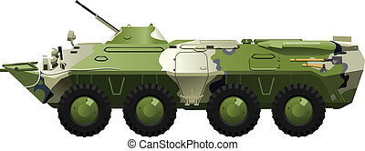 armored troop-carrier. - Vector .eps 8 illustration of...