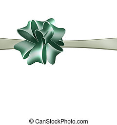 Bow, ribbon. Illustration.
