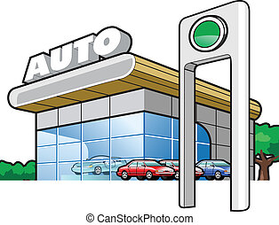 motor-car industry - vector illustration Motor Show Simple...