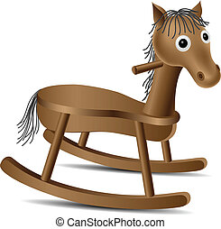 Rocking horse - Wooden Rocking horse toy