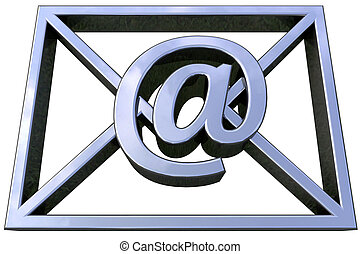 email symbol - 3D simulation of email isolated and with...