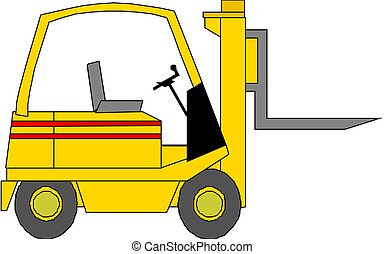 Vector illustration of the forklift