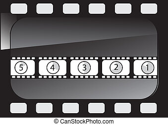 Abstract background film vector