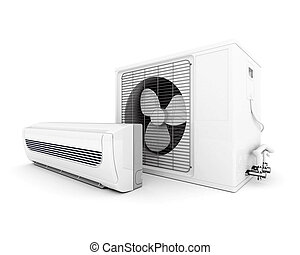 modern air conditioner - Image of modern air conditioner...