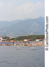 Forte dei Marmi, Italy - Forte dei Marmi beach and Apuane...