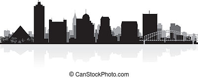 Memphis city skyline silhouette - Memphis USA city skyline...