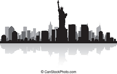 New York city skyline silhouette - New York USA city skyline...