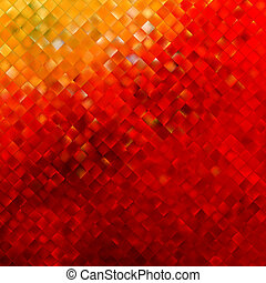Square pattern in red and orange colors. EPS 10 vector file...
