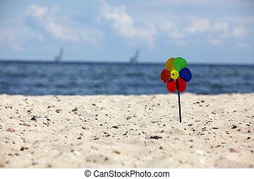 pinwheels at the stony beach