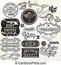 Vector set of decorative elements a - Collection of vector...