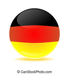 Germany flag sphere colored shadow