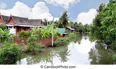 Thai Traditional house in garden be