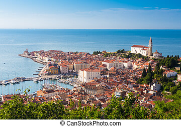 Picturesque old town Piran - Slovenia. - Picturesque old...