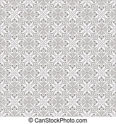 Seamless traditional wallpaper - Seamless traditional silver...