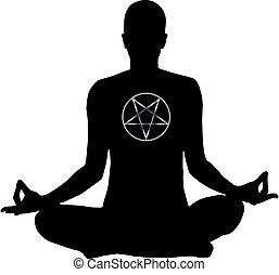 Satanist Meditating