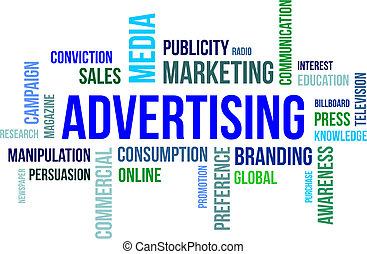 word cloud - advertising