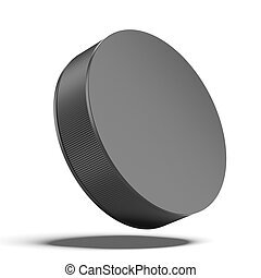 Hockey puck isolated on a white background
