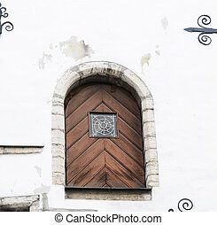 Old door in Tallinn, Estonia
