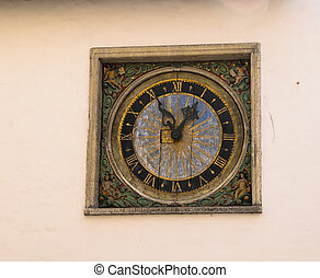 Old clock in Tallinn, Estonia
