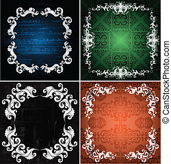 ornamented frames - set of ornamented backgrounds