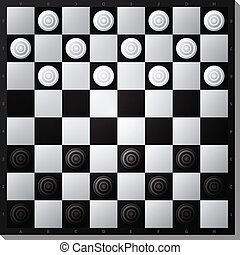 draughts board - illustration of draughts board, eps10...