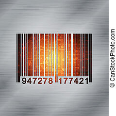 barcode - abstract design background, eps10 vector