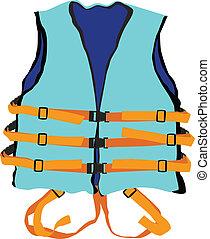 blue life jacket