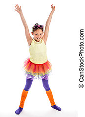 Quicky Young Dancer Girl. - Young girl in Colouful cloths....