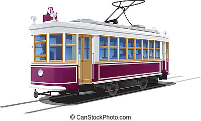 tramway - illustration tram Simple gradients only - no...