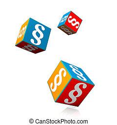 Colorful Cubes Paragraphs