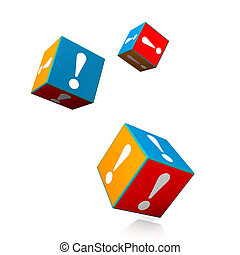 Cubes Exclamation Mark