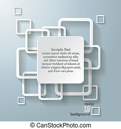 White Rectangle Squares Big Centre - Infographic design with...