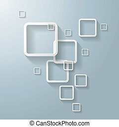 Abstract White Rectangles Design - Abstract rectangleson the...