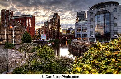 Leeds - Die Stadt Leeds in England