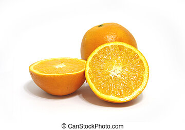 oranges - beautiful oranges was yummy on white background